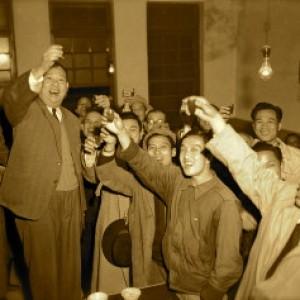 中華民國第一位民選首都市長吳三連於1951年勝選後_First_People-elected_Mayor_of_Taipei_the_Capital_of_TAIWAN1-300x237