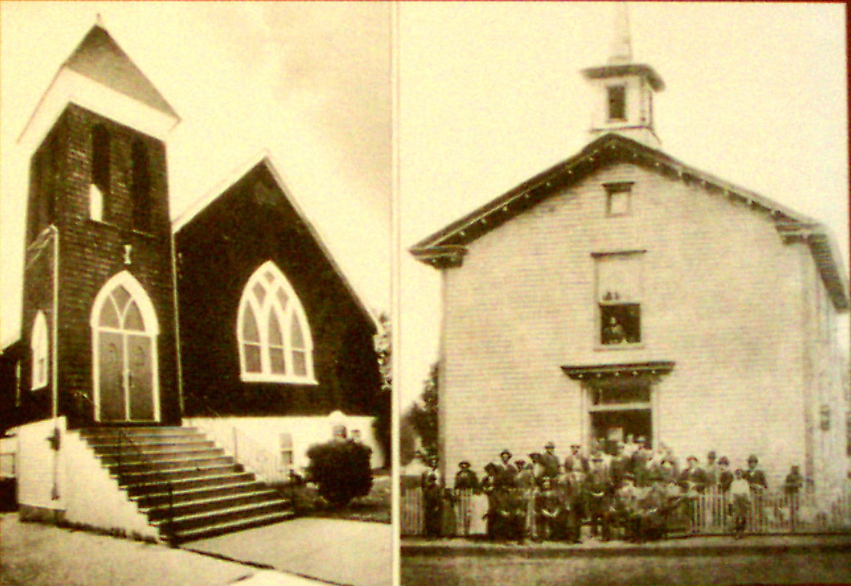 14-*MT. PISGAH A.M.E. CHURCH AND ITS CONGREGATION IN 1827-1890 AT MOULDY AND COMPANY ROADS IN LAWNSIDE, NEW JERSEY (c. LAWNSIDE HISTORICAL SOCIETY)