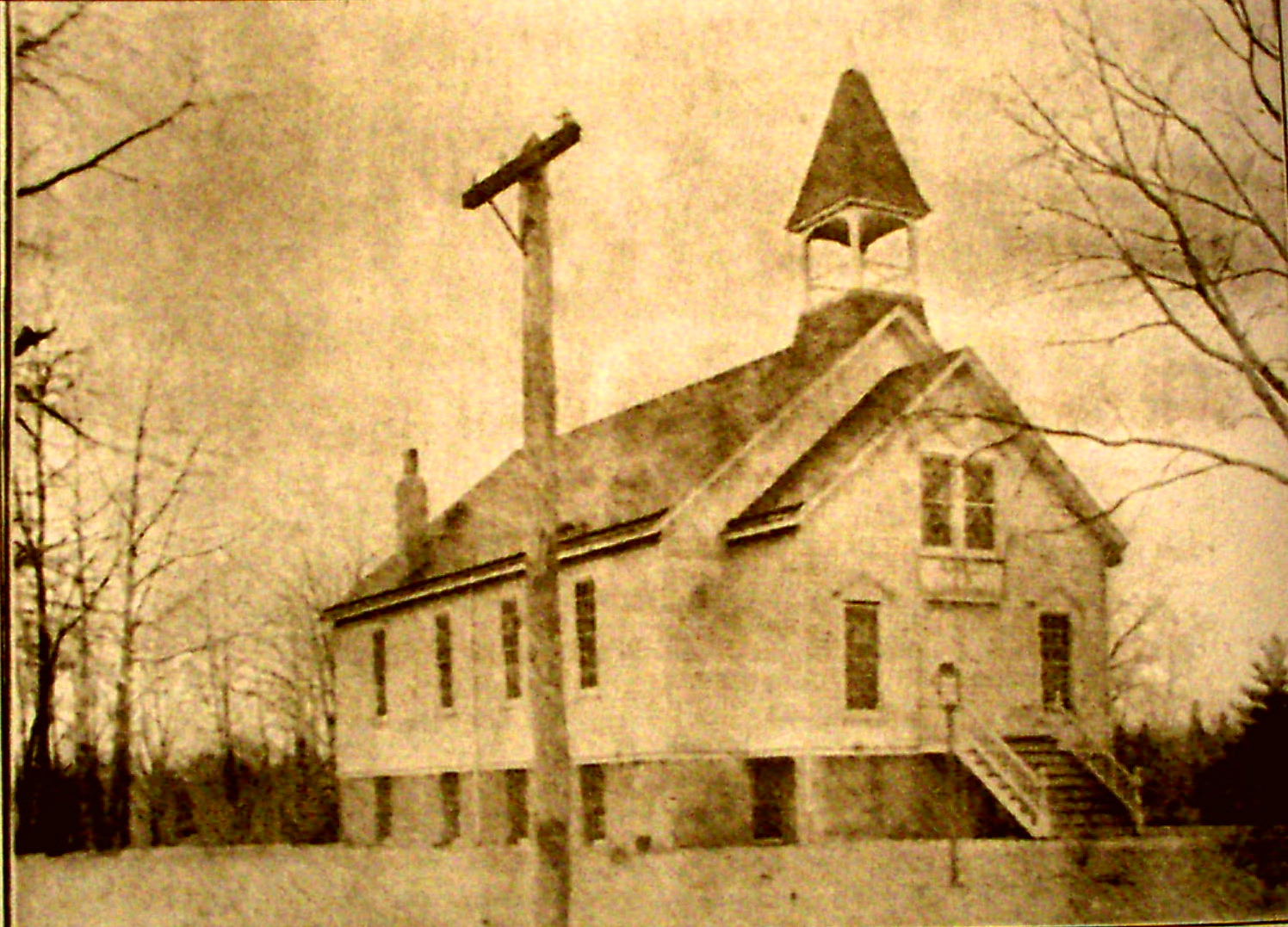 2-*ROSSVILE A.M.E. ZION CHURCH IN 1908, THIS EARLIEST KNOWN VIEW OF THE CHURCH SHOWS ITS BEEL TOWER IN STATEN ISLAND, NEW YORK (c. LOIS AUGUSTUS HENRY MOSLEY)