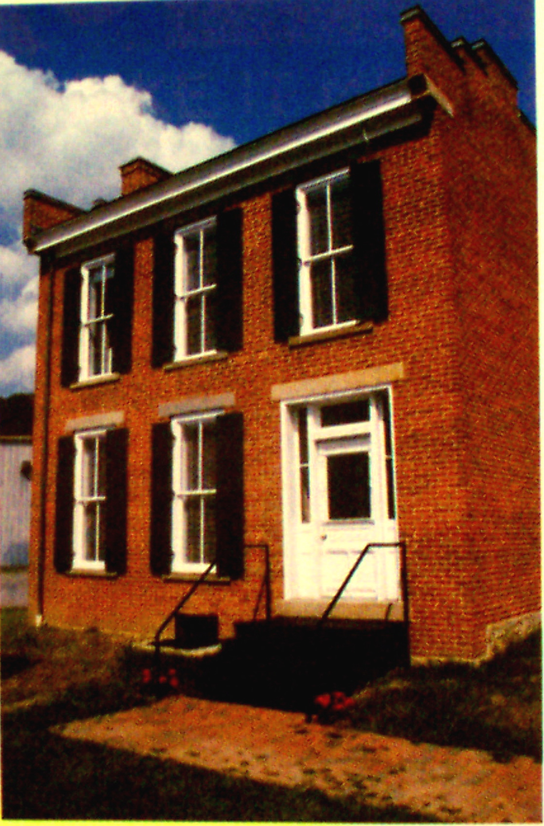 38a-JOHN PARKER'S NEWLY RESTORED HOUSE, IT IS NOW A MUSEUM (c. OHIO HISTORICAL SOICETY)