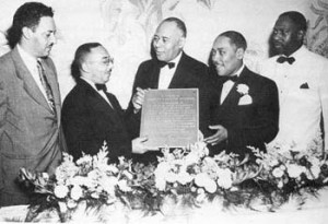 5-Charles Hamilton Houston receives an award at a Washington Bar Association affair in 1949