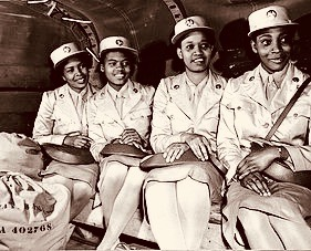 213-197-From its beginning in 1942, black women were part of the WAAC. When the first WAACs arrived at Fort Des Moines, Iowa, there were 400 white and 40 black women copy