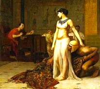 250px-Cleopatra_and_Caesar_by_Jean-Leon-Gerome-206x300