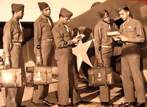 5-Black-Navigation-Cadets-depart-for-a-training-mission.-Hondo-Texas-in-1944-300x225