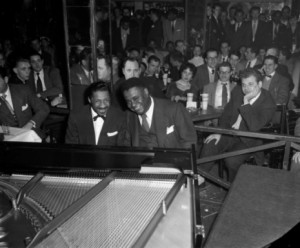 Erroll Garner and Art Tatum at Birdland, 1952. Photo by Marcel Fleiss Tatum's April 2, 1949 live recording at the Shrine Auditorium in Los Angeles