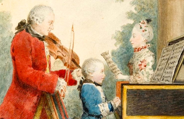 mozart playing dad sister