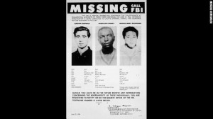 2-Three young civil rights workers were murdered in 1964 in Mississippi while trying to register black voters