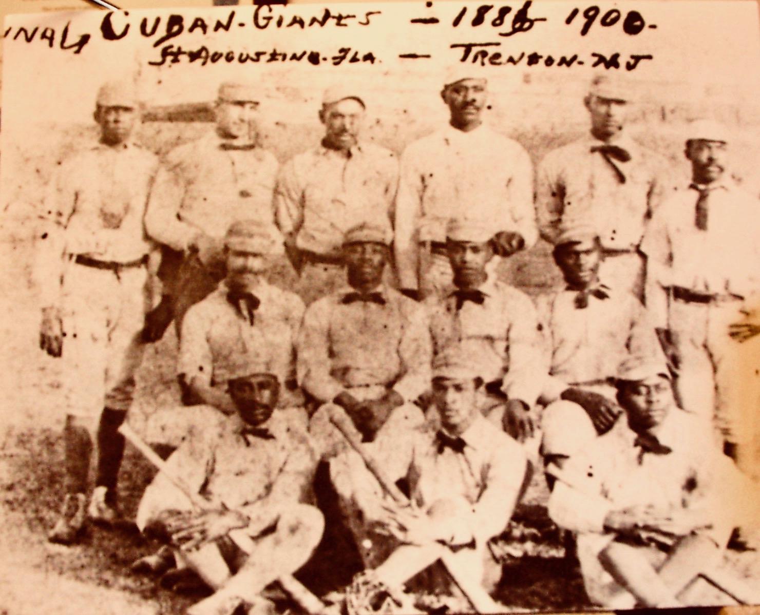 349-CUBAN GIANTS (1886-190O) TRENTON, NEW JERSEY (c. LAWRENCE E. WALKER FOUNDATION) 2