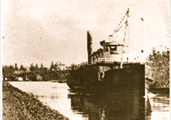 F.W. Brune Canal Boat and Railroad and Bridegtender House