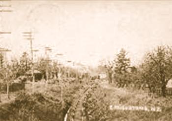 Railroad Tracks, East Millstone, NJ and House of Joseph H. Olcott, East Millstone, NJ