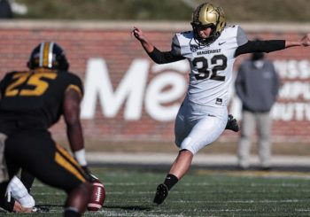 Vanderbilt Kicker Sarah Fuller Makes History as the First Woman to appear in a Power 5 Football Game by Barrett Sallee